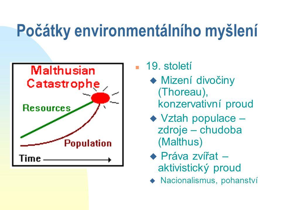 Počátky environmentálního myšlení n 19.