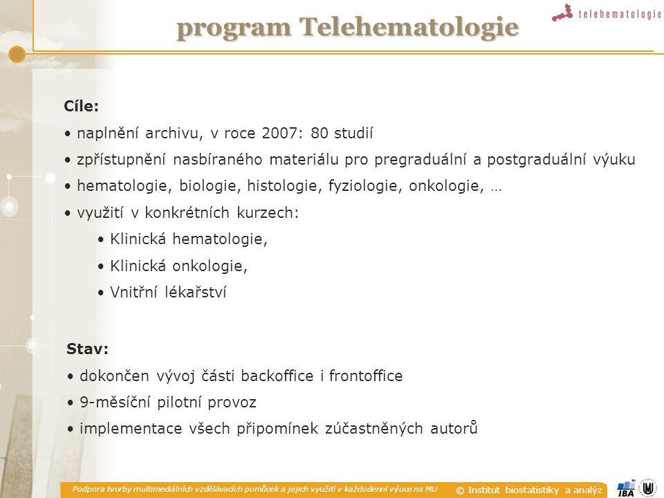 Podpora tvorby multimediálních vzdělávacích pomůcek a jejich využití v každodenní výuce na MU © Institut biostatistiky a analýz Webový portál LF MU [ ISSN 1801-6103 ] 03/200511/200501/200601/200711/2006 Start projektu Vývoj SWTestovací verze Ostrý provozVývoj verze II portal.lf1.cuni.czISSN Vývoj portálu