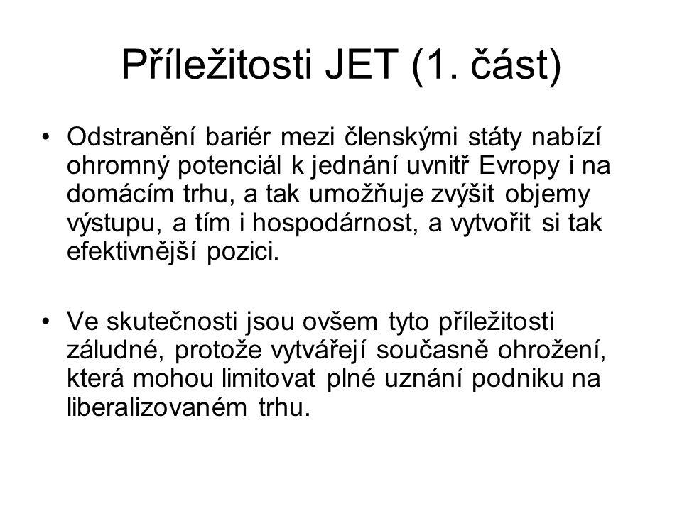 Příležitosti JET (1.