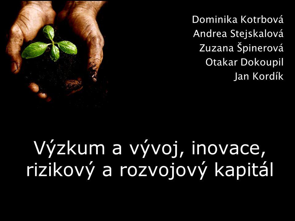 Dominika Kotrbová Andrea Stejskalová Zuzana Špinerová Otakar Dokoupil Jan Kordík Výzkum a vývoj, inovace, rizikový a rozvojový kapitál