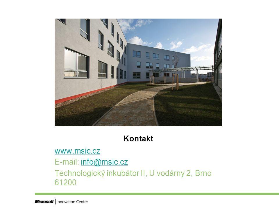 Kontakt www.msic.cz E-mail: info@msic.czinfo@msic.cz Technologický inkubátor II, U vodárny 2, Brno 61200