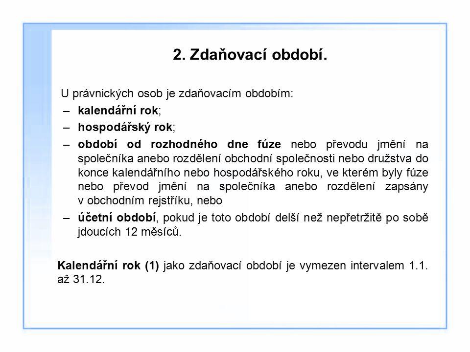 2.Zdaňovací období.