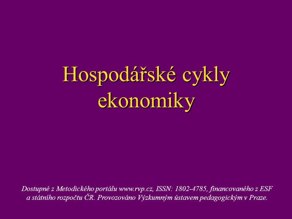 Hospodářské cykly ekonomiky Dostupné z Metodického portálu www.rvp.cz, ISSN: 1802-4785, financovaného z ESF a státního rozpočtu ČR. Provozováno Výzkum