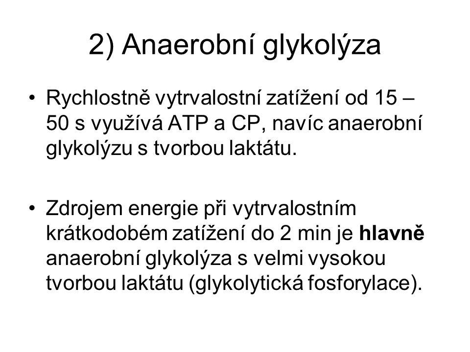Anaerobní glykolýza Jedná se o chemickou reakci, při které se ATP obnovuje z glykogenu, resp.