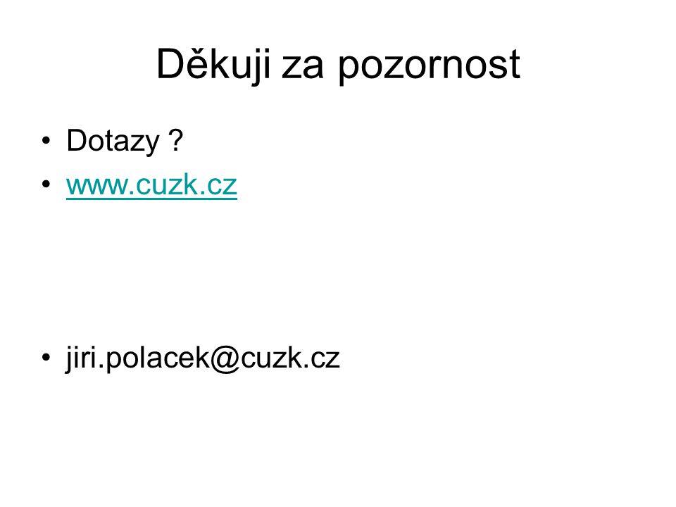 Děkuji za pozornost Dotazy ? www.cuzk.cz jiri.polacek@cuzk.cz