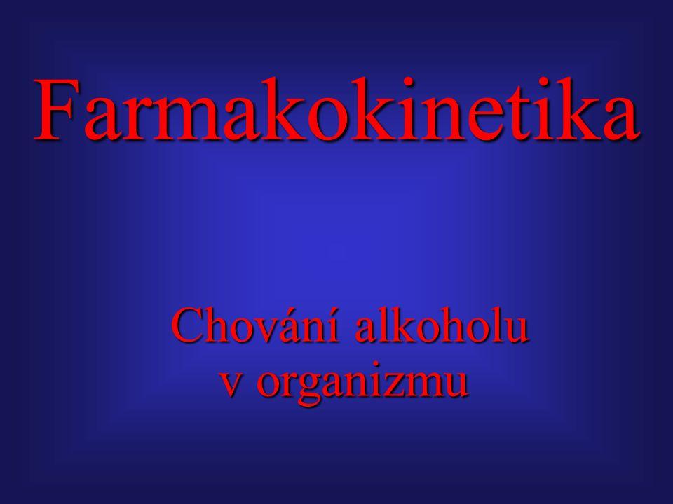 Farmakokinetika Chování alkoholu v organizmu Chování alkoholu v organizmu