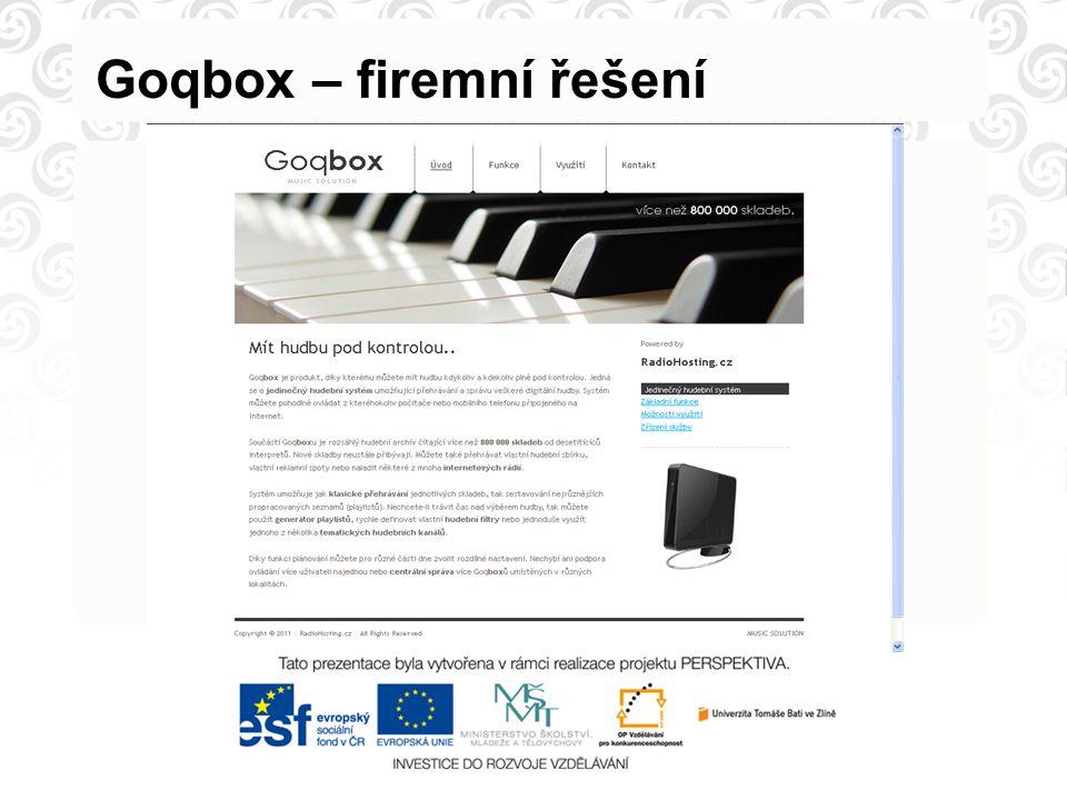 Goqbox – firemní řešení