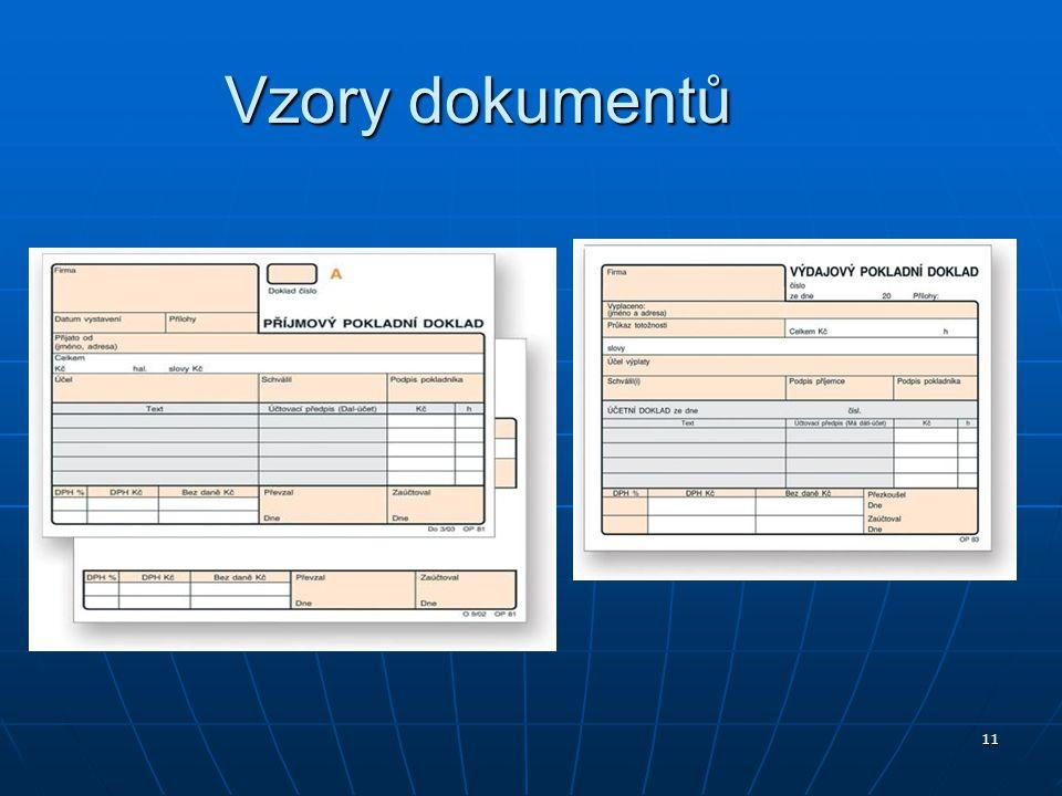 11 Vzory dokumentů