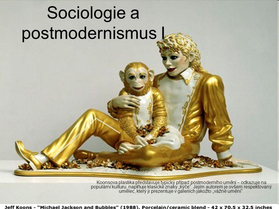 """Slova postmoderna a postmodernismus (a s nimi příbuzná označení jako třeba """"postmoderní situace ) se začala v akademickém světě objevovat v sedmdesátých letech, naplno pak v letech osmdesátých K prosazování postmoderních myšlenek došlo ve více oblastech, nejdříve teorii literatury a literární kritice, umění obecně, architektuře a (postupem času) také v sociální teorii Z postmoderny a postmodernismu se staly frekventované a módní pojmy, dnes lze říct, že móda už pominula, ale zůstaly zajímavé koncepty a celé práce, které jsou relevantní i dnes"""