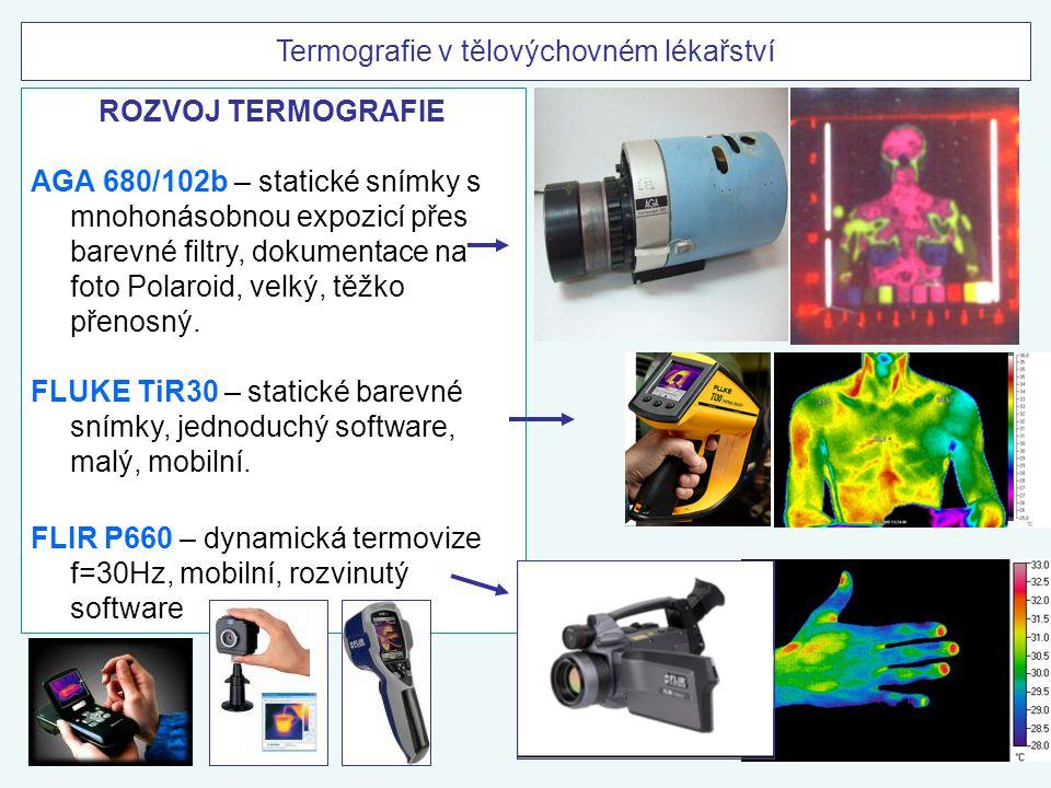ROZVOJ TERMOGRAFIE AGA 680/102b – statické snímky s mnohonásobnou expozicí přes barevné filtry, dokumentace na foto Polaroid, velký, těžko přenosný. F