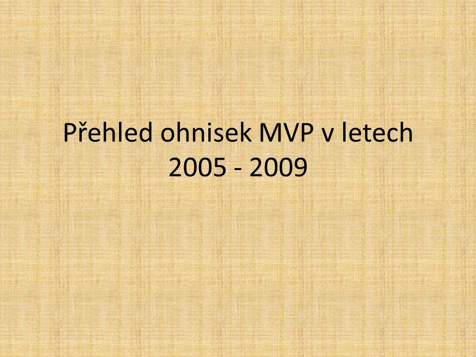 Přehled ohnisek MVP v letech 2005 - 2009
