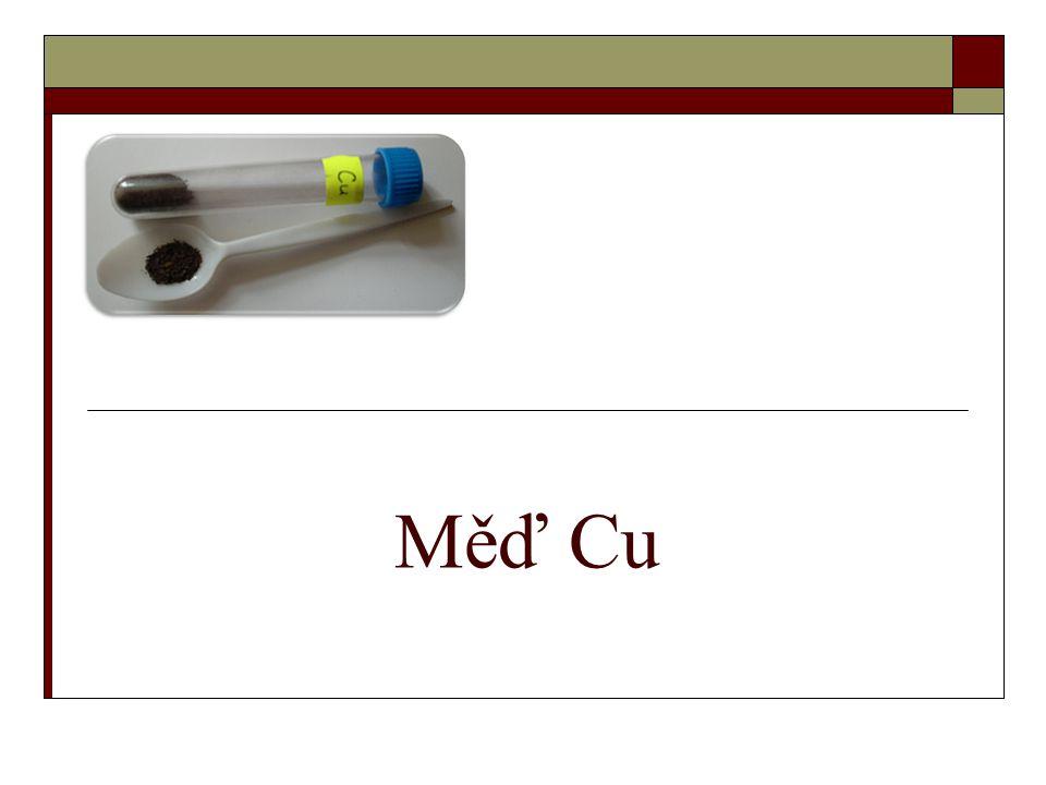 Měď Cu