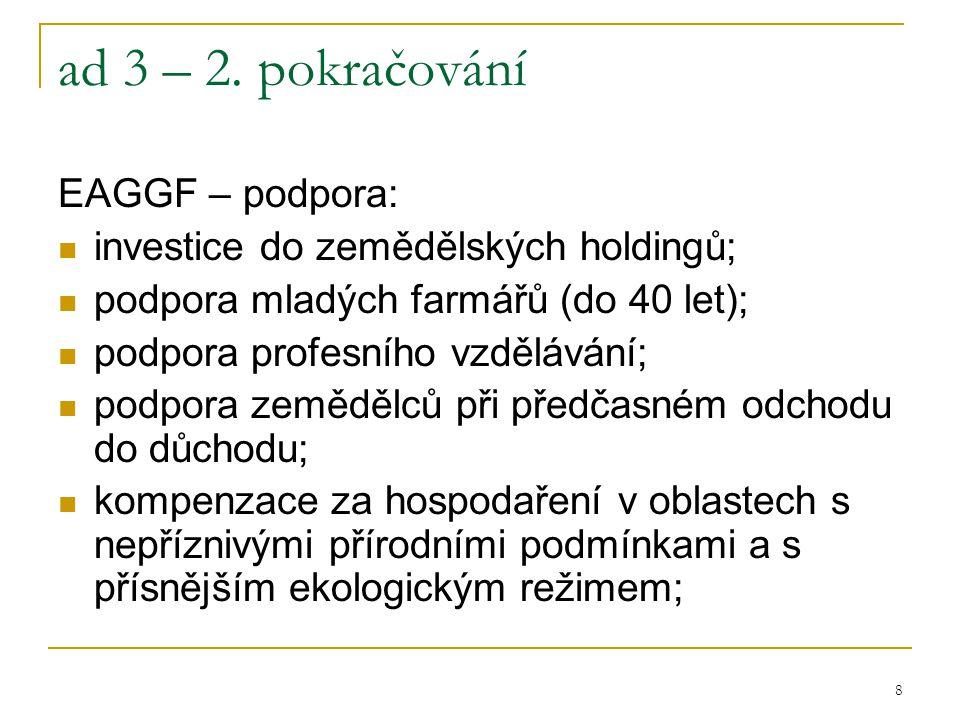 19 ad 6 – 2.pokračování Na čerpání SF – jednotná hranice pro nárok: pod 75 % průměru HDP/1 ob.