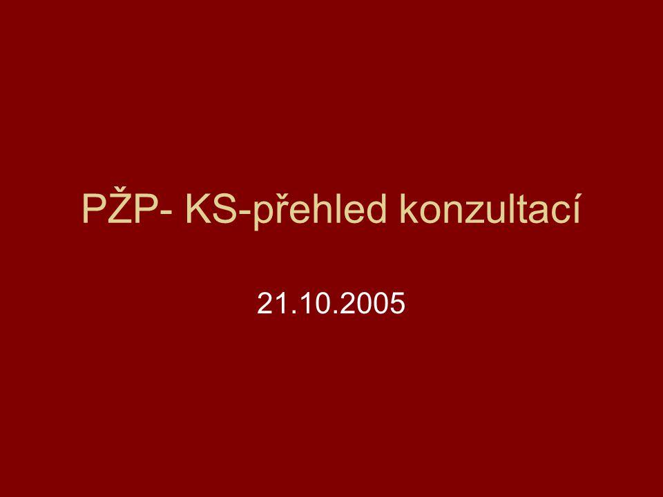 PŽP- KS-přehled konzultací 21.10.2005