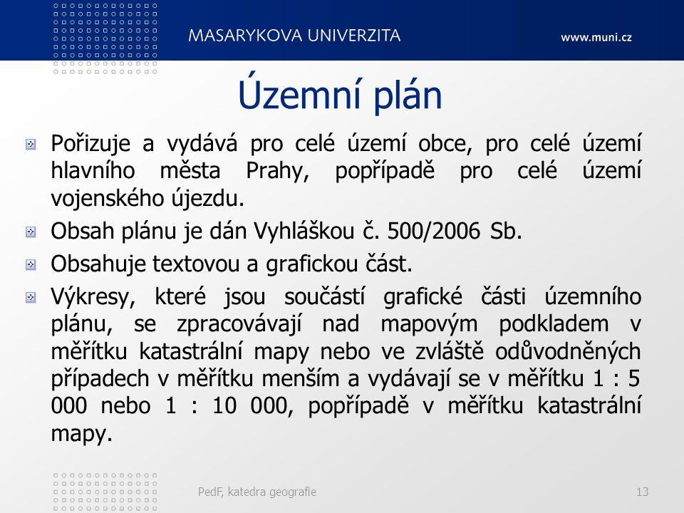 Územní plán Pořizuje a vydává pro celé území obce, pro celé území hlavního města Prahy, popřípadě pro celé území vojenského újezdu. Obsah plánu je dán