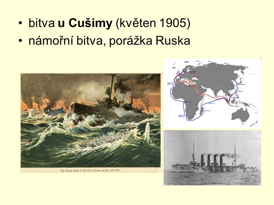 bitva u Cušimy (květen 1905) námořní bitva, porážka Ruska
