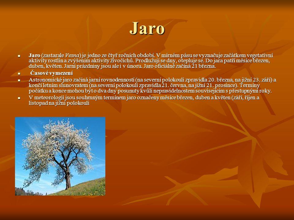 Jaro Jaro (zastarale Vesna) je jedno ze čtyř ročních období.