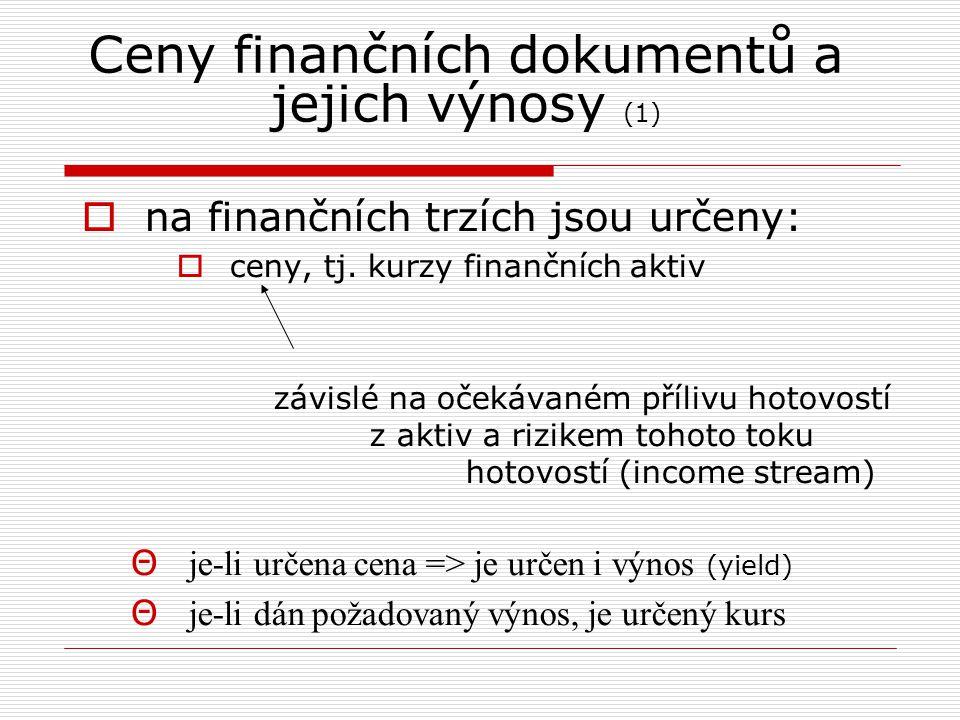 Příklad Obligace, PAR CZK 1000, doba splatnosti 5 let, kupónová platba 130, požadovaný výnos 13 %.