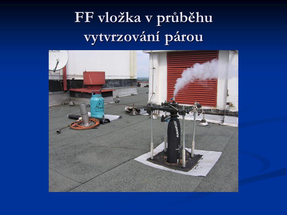 FF vložka v průběhu vytvrzování párou