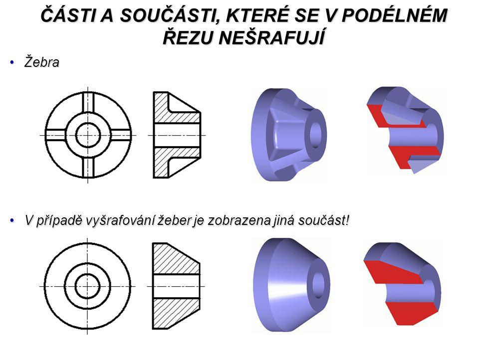 ŽebraŽebra V případě vyšrafování žeber je zobrazena jiná součást!V případě vyšrafování žeber je zobrazena jiná součást.