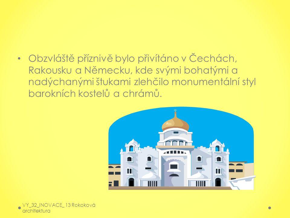 Obzvláště příznivě bylo přivítáno v Čechách, Rakousku a Německu, kde svými bohatými a nadýchanými štukami zlehčilo monumentální styl barokních kostelů a chrámů.