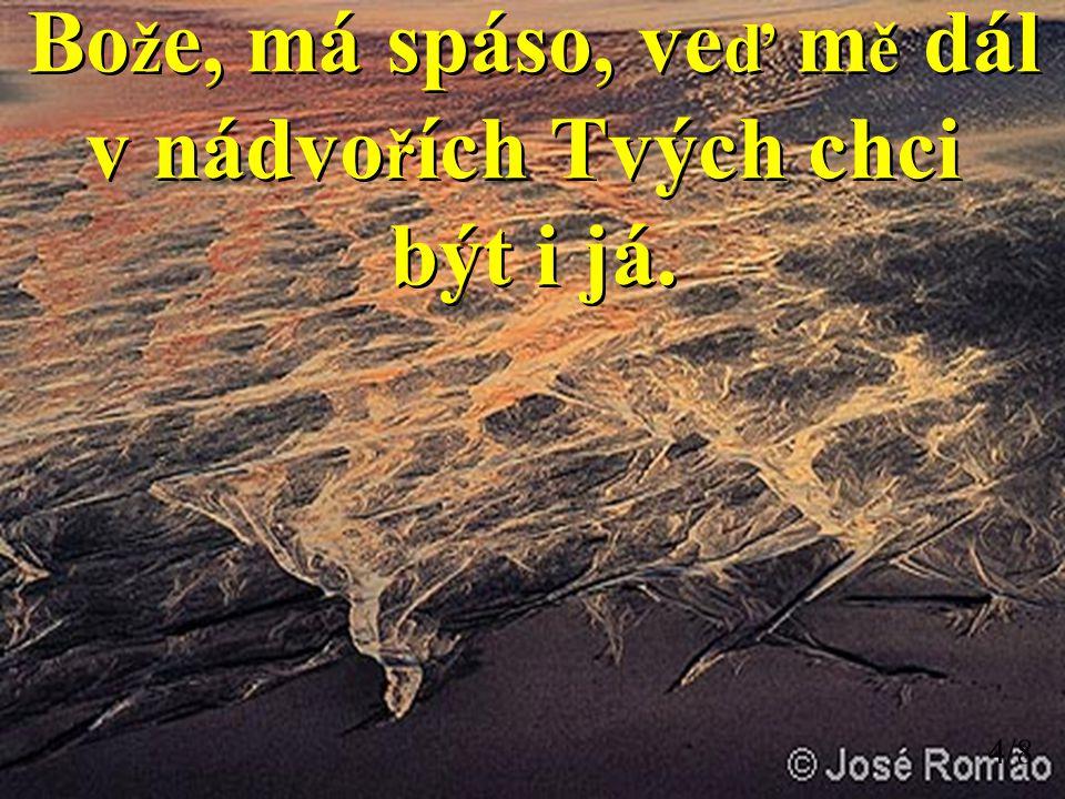 Bo ž e, má spáso, ve ď m ě dál v nádvo ř ích Tvých chci být i já.