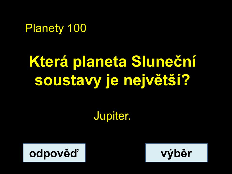 Planety 200 Vyjmenujte planety zemského typu (terestrické).