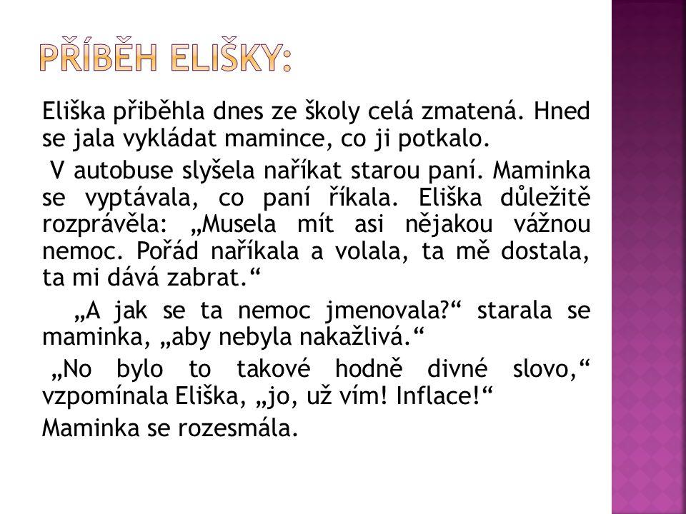 Eliška přiběhla dnes ze školy celá zmatená. Hned se jala vykládat mamince, co ji potkalo.