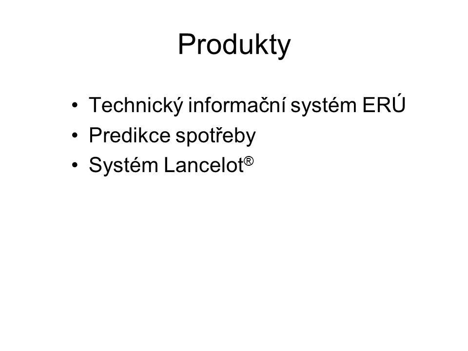 Produkty Technický informační systém ERÚ Predikce spotřeby Systém Lancelot ®
