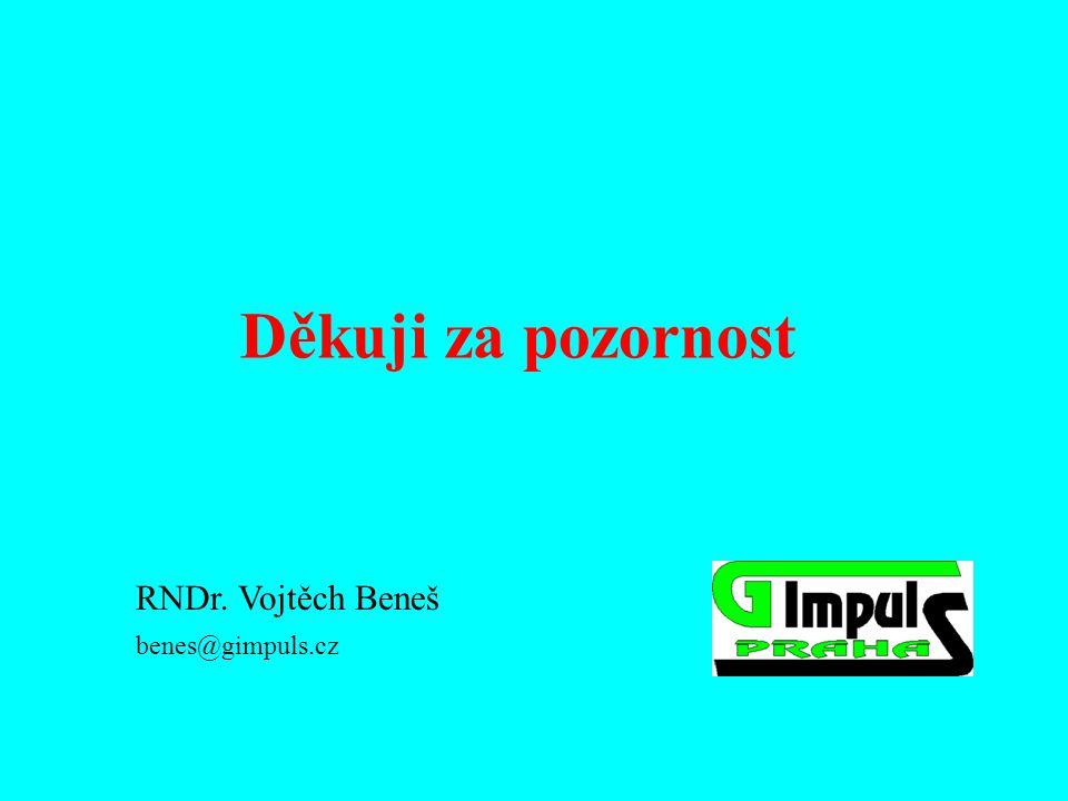 Děkuji za pozornost RNDr. Vojtěch Beneš benes@gimpuls.cz