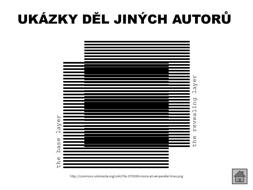 UKÁZKY DĚL JINÝCH AUTORŮ http://commons.wikimedia.org/wiki/File:070309-moire-a5-a4-parallel-lines.png