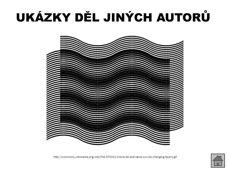UKÁZKY DĚL JINÝCH AUTORŮ http://commons.wikimedia.org/wiki/File:070312-moire-a5-a16-same-curves-changing-layers.gif