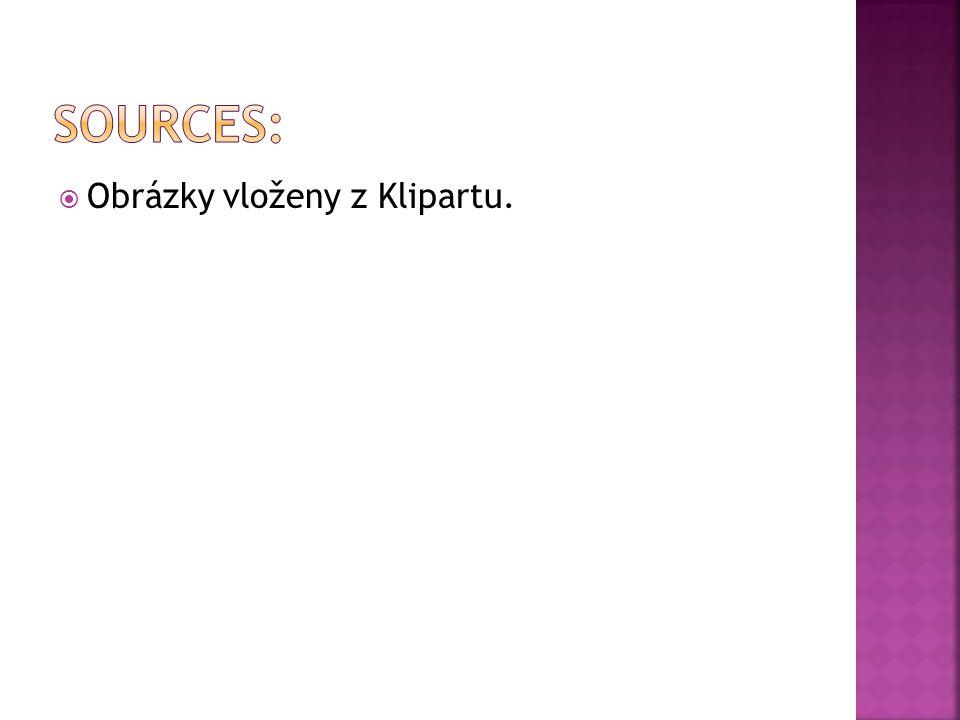  Obrázky vloženy z Klipartu.