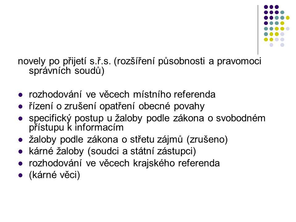 novely po přijetí s.ř.s.