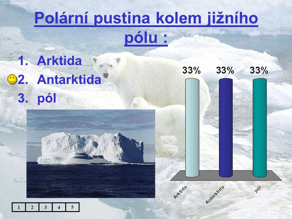 Přechod mírného a severního polárního pásu se nazývá : 1.tajga 2.tundra 3.step 12345