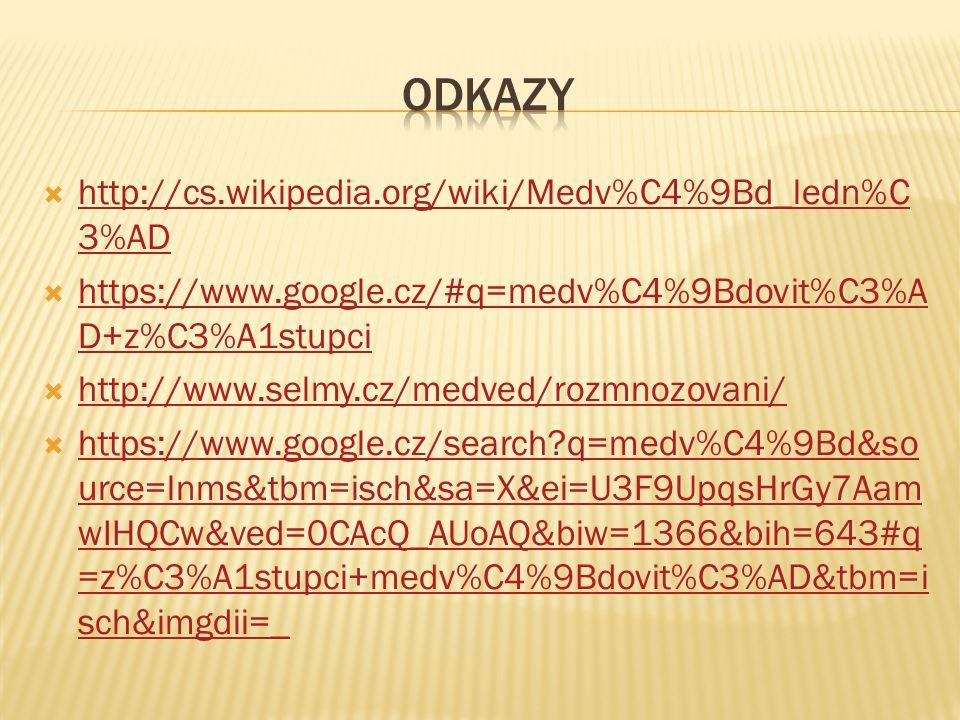  http://cs.wikipedia.org/wiki/Medv%C4%9Bd_ledn%C 3%AD http://cs.wikipedia.org/wiki/Medv%C4%9Bd_ledn%C 3%AD  https://www.google.cz/#q=medv%C4%9Bdovit
