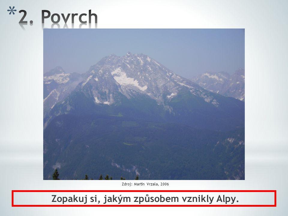 Zopakuj si, jakým způsobem vznikly Alpy. Zdroj: Martin Vrzala, 2006