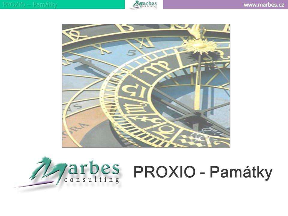 www.marbes.cz PROXIO - Památky
