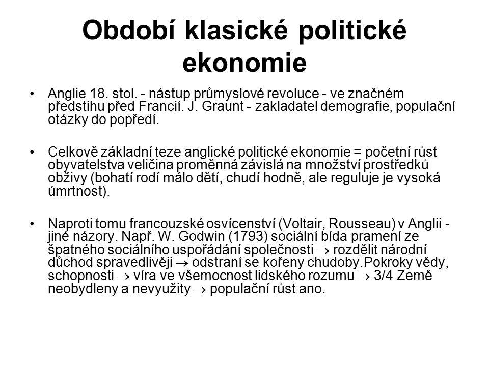 Období klasické politické ekonomie Anglie 18.stol.