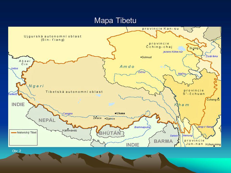 Mapa Tibetu Obr. 1 Obr. 2