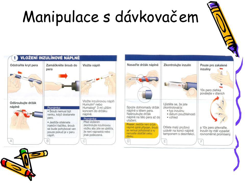 Manipulace s dávkovačem