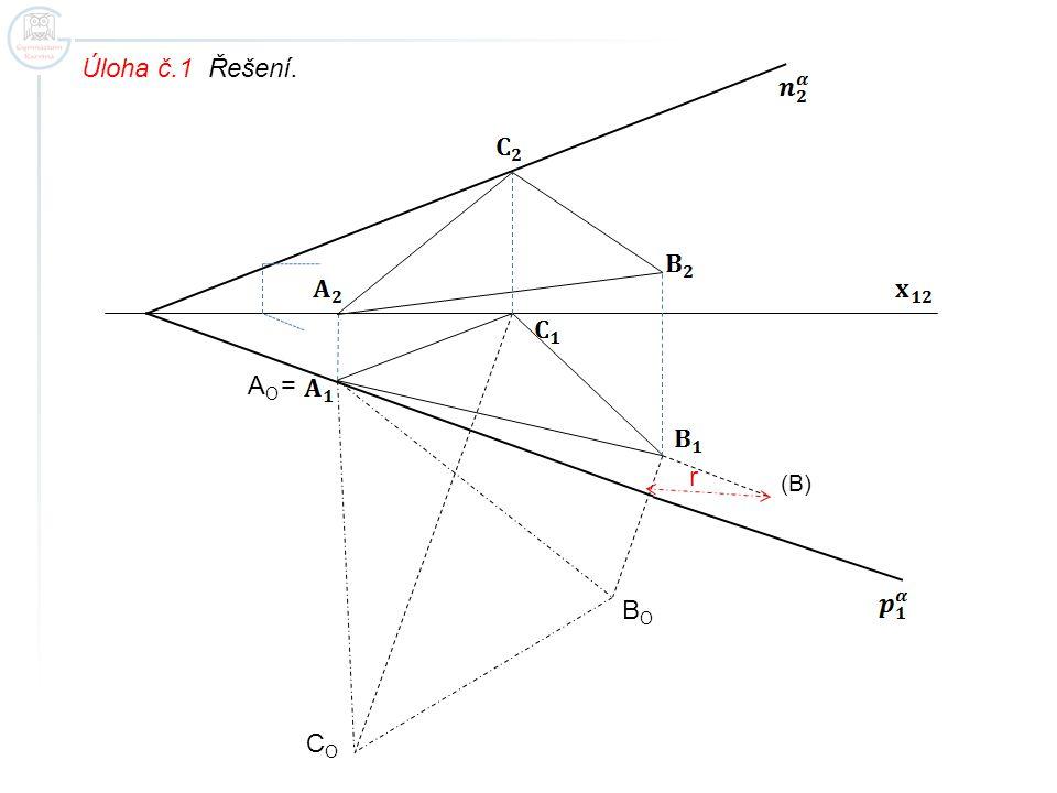 Úloha č.1 Řešení. (B) AOAO BOBO COCO = r