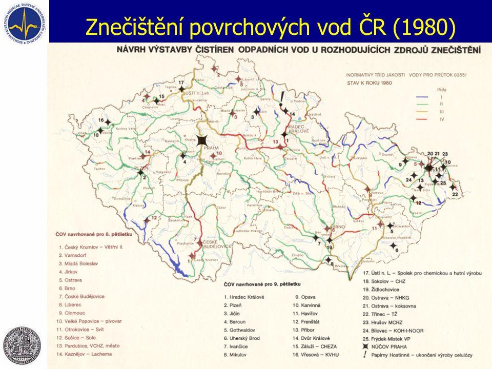 Znečištění povrchových vod ČR (1980)