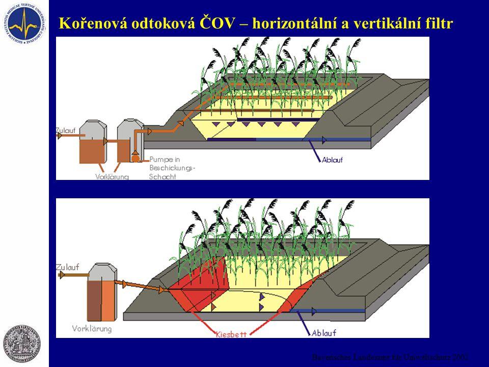 Bayerisches Landesamt für Umweltschutz 2002 Kořenová odtoková ČOV – horizontální a vertikální filtr