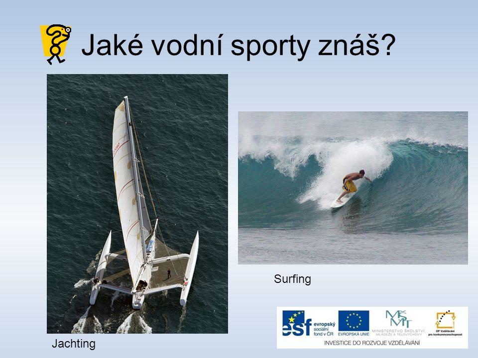 Jaké vodní sporty znáš? Jachting Surfing