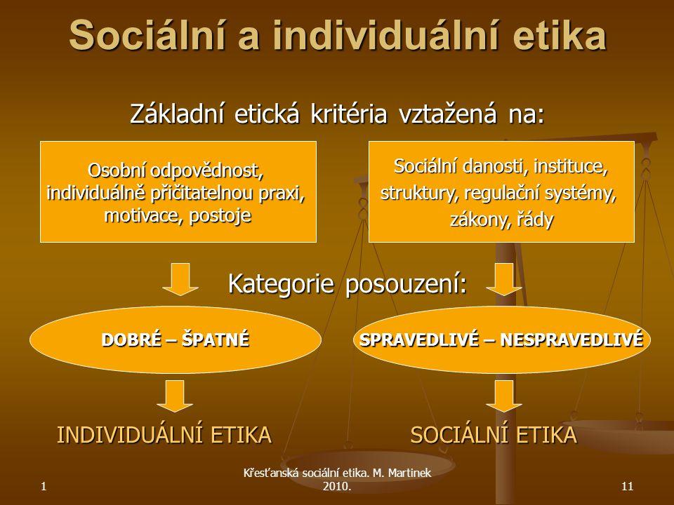 1 Křesťanská sociální etika.M.