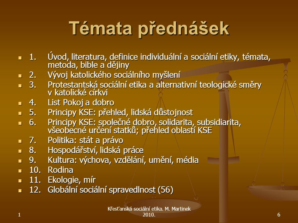 1 Křesťanská sociální etika. M.