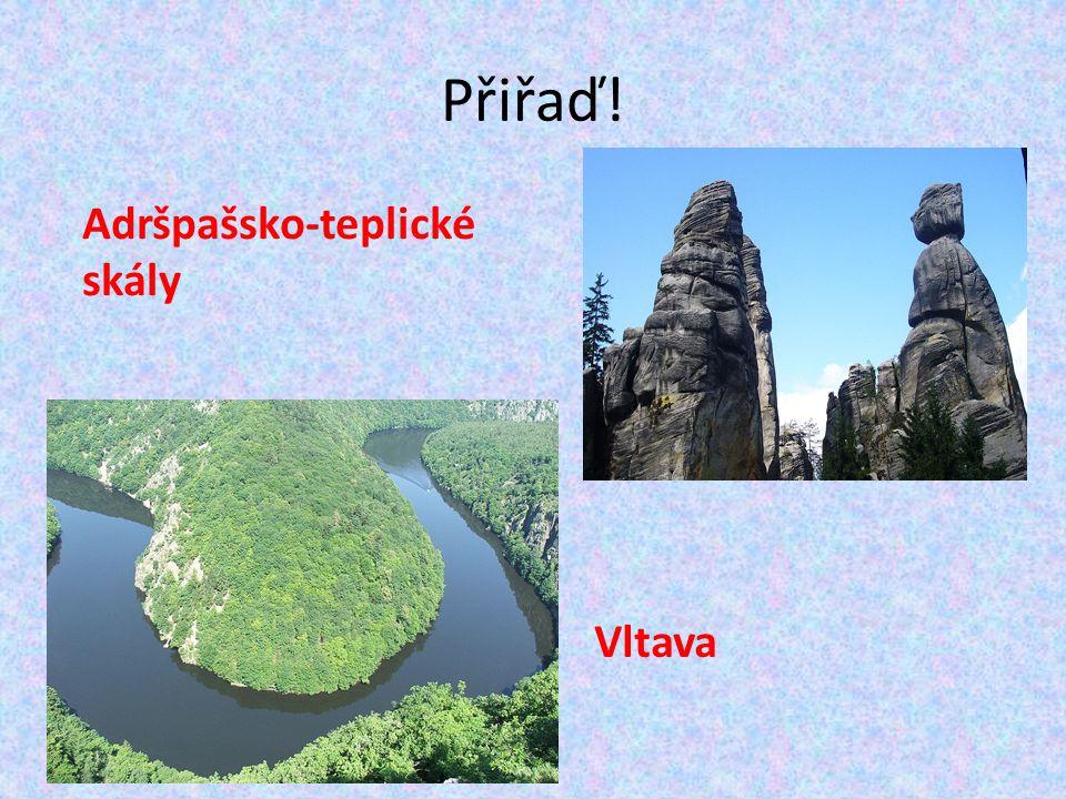 Přiřaď! Adršpašsko-teplické skály Vltava