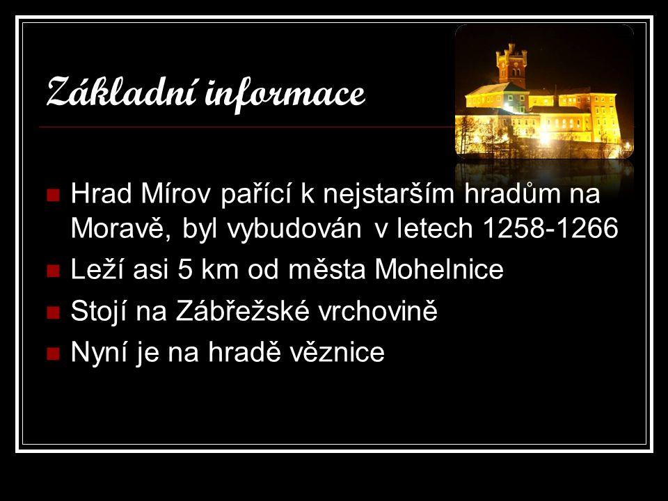 Zajímavosti Z hradu Mírov utekl asi nejznámější český trestanec Jiří Kajinek Na hradě Mírov jsou dodnes možné prohlídky některých částí hradu, ale z důsledků věznice je na hrad vstup veřejnosti zakázán