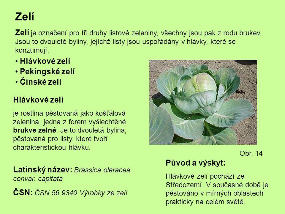 Zelí Zelí je označení pro tři druhy listové zeleniny, všechny jsou pak z rodu brukev. Jsou to dvouleté byliny, jejíchž listy jsou uspořádány v hlávky,